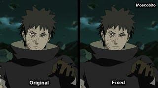 Naruto Shippuden 343 - Obito's face fix