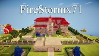 FireStormx71's Awesome Redstone House Cinematic - Minecraft Creation [DOWNLOAD]