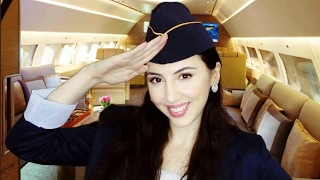 ASMR FIRST CLASS Flight and SPA Service - Flight Attendant Role Play