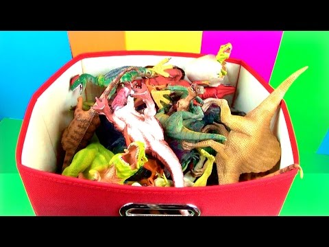 DINOSAUR Box 1 TOY COLLECTION Jurassic World T REX SPINOSAURUS Toy Review SuperFunReviews