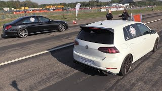 Volkswagen Golf 7 R vs Mercedes-AMG S63 4Matic+