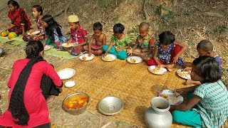 Tomato & Eggs Curry - Real Kids Picnic Of Different Village Children - Tasty Boiled Eggs Curry