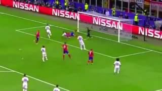 هدف التعادل لاتليتيكو مدريد ضد ريال مدريد عن طريق اللاعب فيريرا كاراسكو- نهائي دوري الابطال28/5/2016