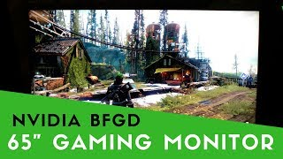 "NVIDIA BFGD Hands On at CES ""Big Format Gaming Display"""