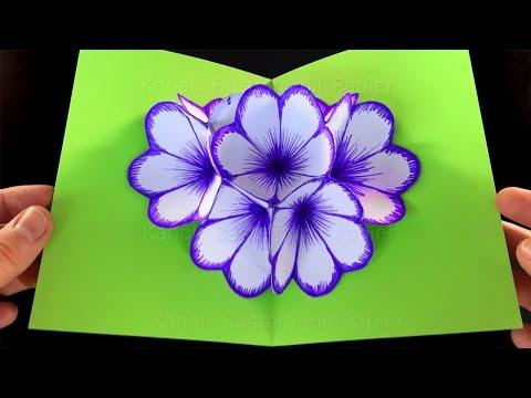 Xxx Mp4 Basteln Mit Papier Blumen Pop Up Karte Falten DIY Geschenke Selber Machen Blume Falten 3gp Sex