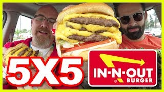 5X5 Cheeseburger Review/Challenge at In-N-Out with Naader & Aaron