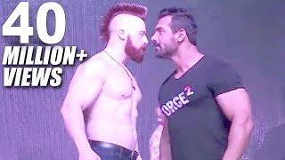 John Abraham Vs Sheamus WWE Superstar In Mumbai - Force 2 Promotion