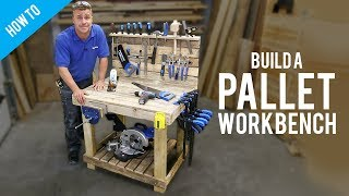 How to make a DIY workbench with pallets
