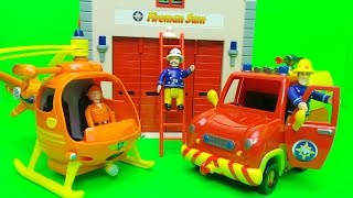 New 2016 Feuerwehrmann Fireman Sam Pontpandy Rescue Playset Opening and Officer Steele needs help