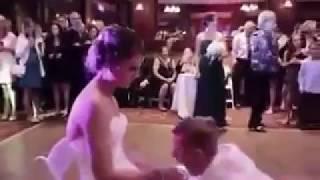 The Groom  Worshiped and kiss Bride feet. Wedding Foot Worship