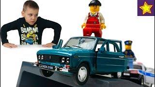 Машинки Welly Лада ВАЗ 2106. Полицейская Лада ловит Автоугонщика Toys for kids videos