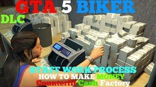 GTA 5 BIKER DLC- How To Make Money Counterfeit Cash Factory, Staff Work Process