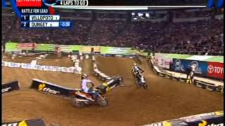 Ryan Dungey & Ryan Villopoto battle at Minneapolis Metrodome 4-13-13