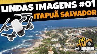 DJI SPARK VOO DE LONGA DISTÂNCIA - Long Range - DRONE Voando Na Praia De Itapuã Salvador BA