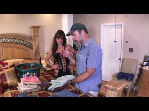 18+ years married, Hank takes Roxy's panties and teaches her a clothing lesson of pants and shirts.