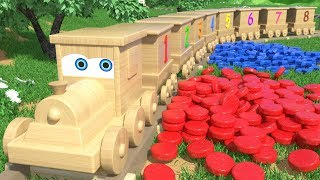 Wooden Train Jimmy Adventures - Toy Rainbow Building Blocks Delivery