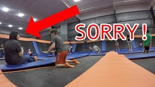 THIS WAS SO CRAZY! I ALMOST CRASHED INTO STRANGER AT SKYZONE TRAMPOLINE PARK