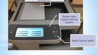 Fotokopi makinası nasıl kullanılır?