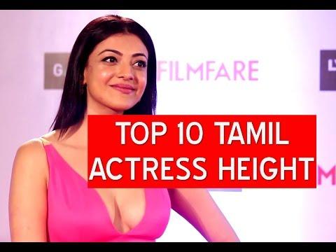 Top 10 tamil actress height