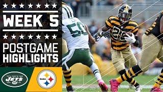 Jets vs. Steelers | NFL Week 5 Game Highlights