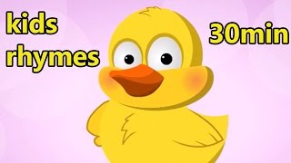 Nursery Rhymes for Children with Lyrics and Action Playlist | Six Little Ducks Songs for Babies