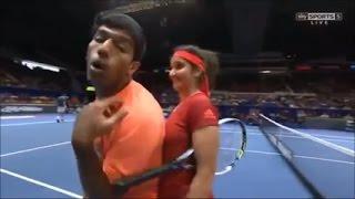 Sania Mirza's Boobs Touching by Rohan  |   Sania Mirza  Hot Video  |  Sania Mirza Indian Tennis Star