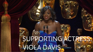 Viola Davis wins the Best Supporting Actress BAFTA for Fences - The British Academy Film Awards 2017