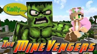 Minecraft MineVengers - LITTLE KELLY & THE MINEVENGERS vs THE HULK!!!