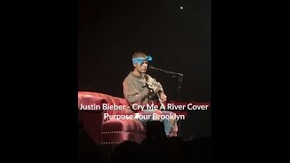 JUSTIN BIEBER - CRY ME A RIVER ACOUSTIC COVER (PURPOSE TOUR BROOKLYN 05.05.16)
