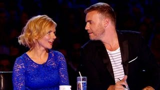 FIGHT! Watch Geri VS Gary in the battle of the bands - The X Factor UK 2012