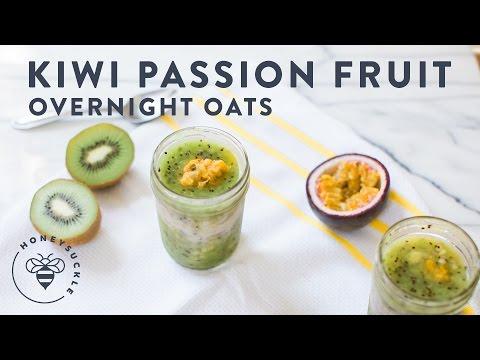 Kiwi & Passion Fruit Overnight Oats - Honeysuckle