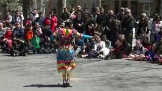 Jingle Dance Exhibition - Valerie Rivera - Redhawk Native American Mother Earth Pow Wow 2018