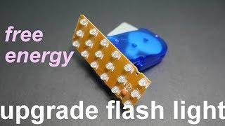 free energy || dynamo hand crank flashlight UPGRADE