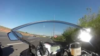 Zx6r!! No top speed lado a lado da hp4