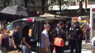 Priyanka Chopra arriving at Quantico Shoot at 5th Avenue New York City