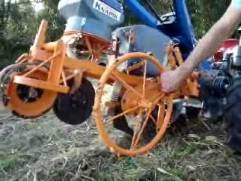 Plantadeira Plantio Direto 1 linha para Micro Trator