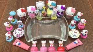 Special Series Hello Kitty Slime | Mixing Makeup and Glitter into Clear Slime | Satisfying Slime