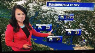 Hot Weather report for Whistler CTV News Vancouver BC Canada Ann Luu