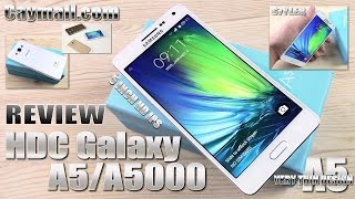 How to spot a HDC Galaxy A5/A5000 fake (REVIEW) Samsung Galaxy A5 Clone/Replica, 5