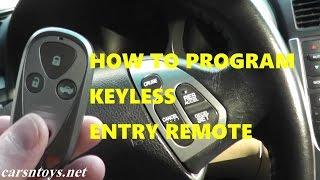 How to Program Keyless Entry Remote Key Fob for Acura TL