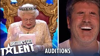 OMG! The Queen Comes And ROASTS The Judges..Watch Their Reaction! Britain's Got Talent 2019