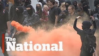 Far-right and anti-racism groups clash in Quebec City