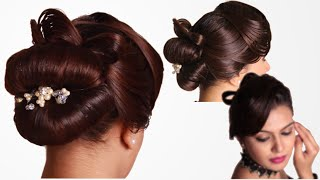 Hairstyle French Knot with Vintage Waves