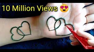 Most Attractive Heart Mehndi Design | Simple Mehandi Design