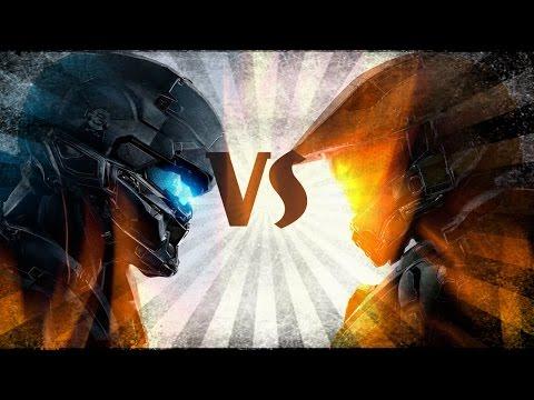 Halo 5 Jefe Maestro VS Spartan Locke