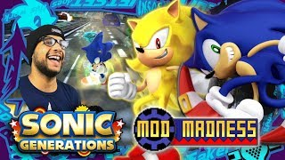 Sonic Generations PC - HD Dreamcast Sonic & SUPER Form (4K 60FPS) Mod Madness!