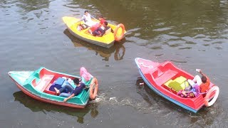 Paddle Boat Adventure in Nandan Park | Amazing Paddle Boat Park Lake | Paddle Boats