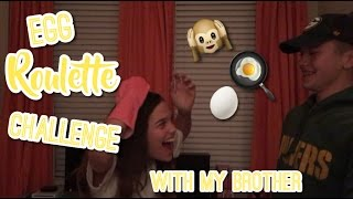 EGG ROULETTE CHALLENGE WITH MY BROTHER | Smiley Evaa