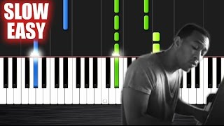John Legend - All of Me - SLOW EASY Piano Tutorial by PlutaX