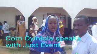 #VideoNews Com Oyinlola speaks with Just Event online crew as we sociable NANA AISHA COLLEGE OF EDUC